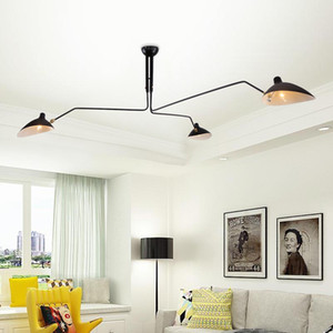 세르지 모윌 펜던트 램프 레트로 북유럽 산업 간단한 LED 샹들리에 천장 램프 거실 침실 조명기구 산업 램프