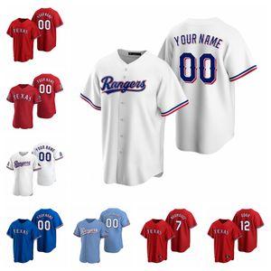 Delino DeShields Jersey Nolan Ryan Joey Gallo Rougned Odor Shin-Soo Choo Cole Hamels Prince Fielder Baseball Jerseys Custom Stitched