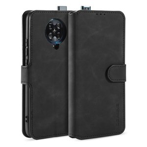 DG.MING High-end business protective sleeve For XIAOMI RM K30PRO CASE Vintage PU Leather Case Flip Stand Card Slot Magnets