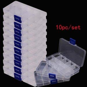 Piezas de la caja caja de herramientas Tornillos granos de la joyería IC Pesca almacenamiento de componentes Organizador Container