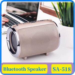 15x altavoz Bluetooth S518 de hombro portable tarjeta TF Diagonal Correa Wireless Mini altavoz de cilindro cilíndrico de sonido portátil
