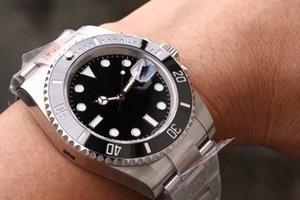 N usine de luxe Montres Hommes V10 Qualité céramique Lunette 116610 Bracelet en acier inoxydable Montre Mécanique Automatique 2836 Mouvement Montre-bracelet
