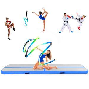 Envío gratis 2 * 1 * 0.2 m Inflable pista de aire gimnástico / Yoga / Taekwondo / Agua flotante / Camping plegable entrenamiento antideslizante Mat