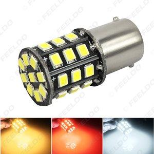 venta al por mayor T20 T25 1156 BA15S 33SMD 2835 33LED bombilla de luz de señal de giro de freno automático de coche 7-color # 4695