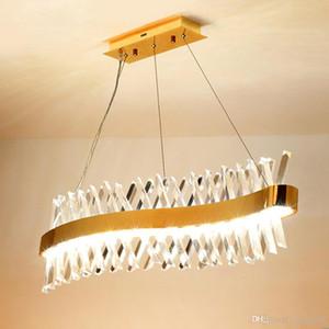 FEDEX conception d'onde longue lustre cristal lampe LED AC110V 220V lustre cristal Kronleuchter Éclairage barre lumineuse