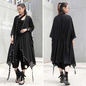 20190921 grande mode féminine, longueur libre et moyenne en mousseline de soie cardigan manteau
