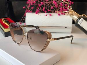 MACAS Novas mulheres de designer óculos de sol encantador Cat olho Pentagrama óculos de metal de design contas de flash galsses 100% de proteção UV400