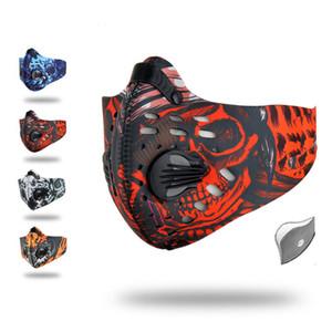 Filtre ile Binme Spor Bisiklet Yarım Yüz Maskesi Koşu Bisiklet Maske Aktif Karbon Sıcak facemasks Karşıtı Kirlilik Toz Motosiklet Bisiklet