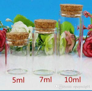 5 мл 7 мл 10 мл прозрачная стеклянная банка мини флакон с пробкой для хранения сухих трав прямой рот стеклянная трубка бутылка 22 мм