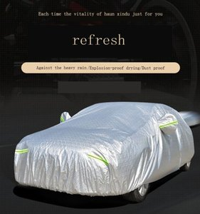 Universal Car Covers pleine neige glace poussière vent Pare-soleil Couverture Pliable Silver Light Taille S-XXL Outdoor Car Cover Protector