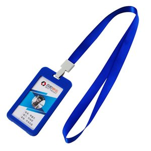 90*54mm Business Card Holder Plastic New Durable Hard IPX 3 Waterproof ID Badge Holder With Sling MOQ 100pcs With DHL Shipping