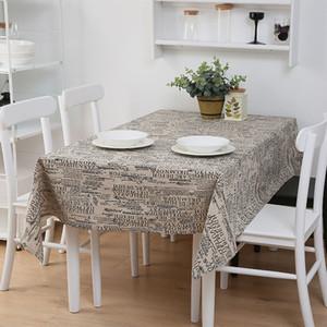 Plaid Print Tischdecke Haushalt Wasserdichte Leinen Rechteck Tischdecke Home Kitchen Dekoration Tischdecke VT1400