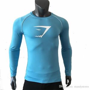 Nouveau manches longues YD Sport Shirt Men rapide Fonctionnement à sec T-shirts pour hommes serpent Gym Fitness Vêtements Top Mens Rashgard Soccer Jersey