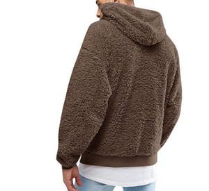 Neue Speicher-Förderung Frühling Herbst Designer Explosion Art und Weise plus Samt-Sweatshirt Männer Pullover Pull homme Mannmantel