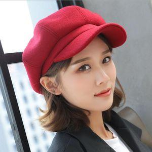 Wholesale-Fashion Women Unisex Beret Hats Octagonal Denim Newsboy Caps Short Eaves Dome Leisure Style Free Shipping