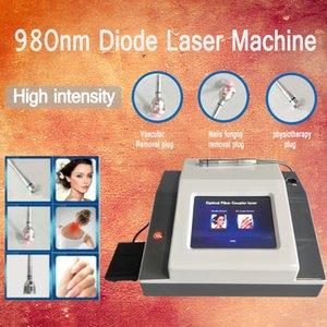 Lesiones de 980 nm Vascualr 980 diodos láser venas de araña diodo láser venas vasculares permanentes remover la máquina