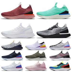 Nike air Epic React Fly Knit Zapatillas de moda para hombre Zapatillas sin cordones para mujer zapatillas de deporte epic react blanco negro beige zapatillas deportivas