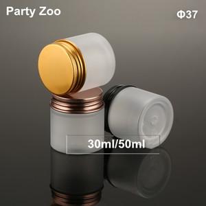 Upscale 30ml / 50ml Frosted Wild Mund Sahneglas Mit Schraube Aluminium Deckel PET Lotion Creme Behälter Flasche