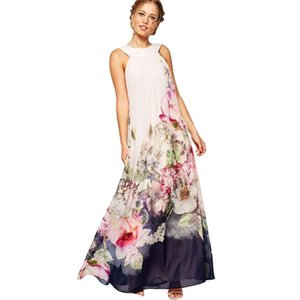 Casual Dresses CHAMSGEND Summer Women Fit And Flare Floral Sleeveless Dress Lady Sundress L0516