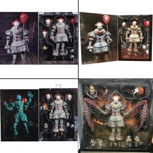 7inch 18cm 4 Types Original NECA Pennywise Joker Action Figure Toy Doll Horror Halloween Gift CJ191224