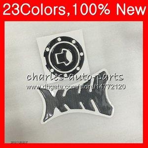 Protector de almohadilla de tanque de fibra de carbono 3D para HONDA CBR1100XX Blackbird 1100XX 1996 1997 1998 1999 2000 2001 96-07 CL129 Etiqueta de etiqueta de tapa de tanque de gas