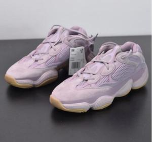Новый 500 Мягкий Видение Фиолетовый Розовый Кроссовки Kanye West 500 Волна Бегун Дизайнер Мужские Женские Кроссовки Спортивная Обувь