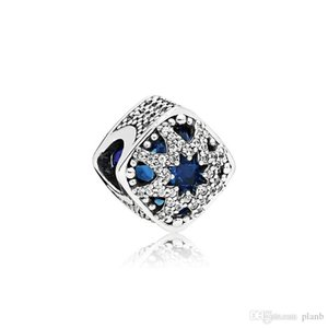 NEW Authentic 925 Sterling Silver Blue Crystal Charms Original box for Pandora Beads Charms Bracelet jewelry making