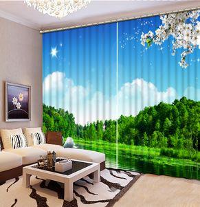 Persianas de lujo europeo Blackout Living Room Bedroom For Blinds Decoración Roman swan Roller Curtain