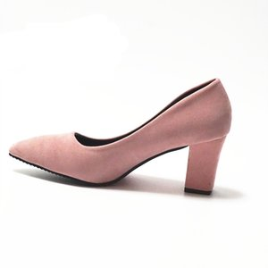 Scarpe donna rosa 7,5 centimetri Block Heel donna sexy pompe Estate EUR 34 -39 Mujer Zapato Office Low Heel Femme Chaussure