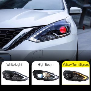2PCS Car Styling for Nissan Sylphy Headlights 2016 2017 2018 Head Lamp LED Headlight DRL Lens Headlamp H7 D2H HID Xenon bi xenon