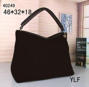 5 اللون أعلى جودة خمر النقش الزهور حقيبة M40249 النساء جلد طبيعي ارتسي حقيبة تسوق حمل مصمم محفظة حقائب الكتف