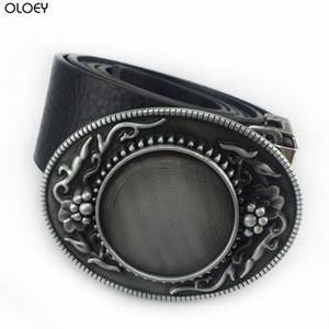 OLOEY Buckle Club Heavy Blank DIY Jeans Hebilla de cinturón de regalo para hombres FP-03711-1 Acabado de cobre 4cm Ancho Loop Drop Aleación de zinc Gancho