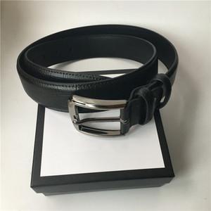 3.8cm Anchura de la correa para hombre hebilla grande de las mujeres Cinturones de moda de alta calidad de cuero genuino de cintura