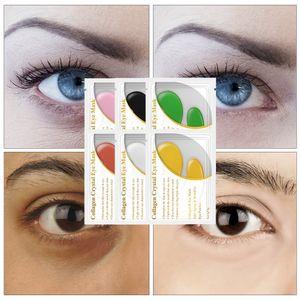 LANBENA 24K Gold Eye Mask Collagen Eye Patches Anti Dark Circle Puffiness Eye Bag Moisturizing Skin Care 6 Colors