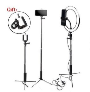 "2020 New Dimmbare Fotografie LED 10"" 26cm Selfie Ringlicht Youtube Video Live Photo Studio Ring Lampe mit USB-Stecker-Telefon-Standplatz-Stativ"