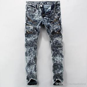Autumn Spring Fashion Hot Mens Jeans Men Hip Hop Streetwear Denim With Snow Jeans Plus Size