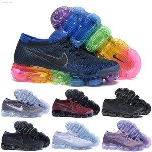 Nike air max 2018 2018 nuevos diseñadores suelas suaves del arco iris ser cierto de las mujeres suaves de los zapatos corrientes Para los zapatos real calidad de la manera deportes