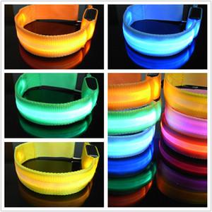 DHL Free shipping Sports LED luminous bracelet USB luminous armband Charging bracelet armband cheering equipment night running armband