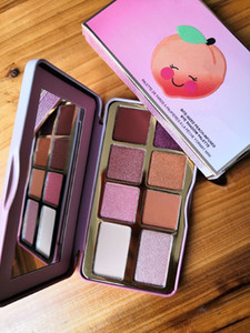 Mais novo Deluxe Derreter em estoque Cravado Peach Mini Eyeshadow Maquiagem Paleta Férias Chirstmas 8 cores paleta da sombra DHL frete grátis