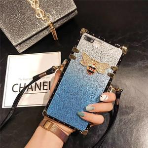 Luxury Designer Old Fleur en cuir pour Iphone 11 Pro Max XS XR 8 7 Mode Sparkling Retour pour Samsung A7 note10 A20 A50 J4 J6, plus
