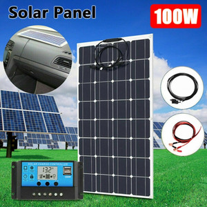 캠핑 자동차 12V 18V 24V 유연한 태양 전원 패널 키트에 대한 홈 태양 광 발전 시스템을위한 100W 유연한 태양 전지 패널 키트