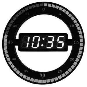 Orologio da parete calda circolare fotosensibile LED Digital di disegno moderno a duplice uso Dimming digitale orologi per la decorazione domestica SPINA UE