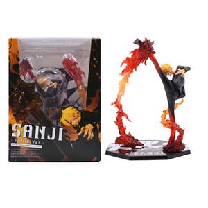 17 cm Anime 원피스 배틀 Ver Vinsmoke Sanji PVC 액션 피규어 인형 Collectible Model 장난감 크리스마스 선물