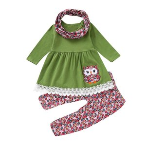 baby girls clothes long sleeve Embroider suits tops+pants set children girls clothing spring clothes kids Outfits CF