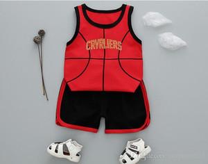 Children's clothing set New summer boys girls casual letter Clothes Big Children Summer Short Sleeves Suit Tide