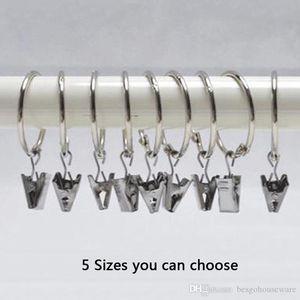 5 Taille Placage rideau anneau clip Douche rideau anneaux Easy Clip Glide crochet Clips tringle à rideau Accueil Rideaux Accessoires BC BH0906-5
