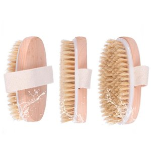 New Dry Skin Body Soft Natural Bristle the Brush Wooden Shower Bristle Brush Body without Handle LX1986