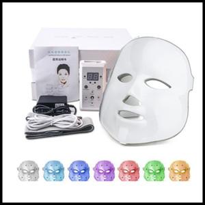 EPACK Santé Beauté 7 couleurs lumières LED Photon PDT Masque facial visage Soins de la peau Rajeunissement Therapy Portable Device Home Use Photon lumière