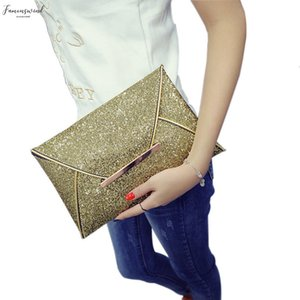 Simple Fashion Women Plain Envelope Clutch Bag Solid Color Leather Glitter Purse Party Delicate Handbag Ladies Wedding Bags B