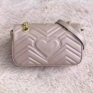 tag bagagli in pelle 2019 nuovo borsa portafogli Marmont gancio libero deliverypurse borsa tracolla in pelle Messenger bag delle donne